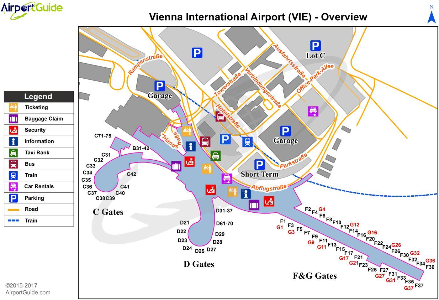 Wien Flughafen Karte Karte Von Wien Flughafen Western Europe